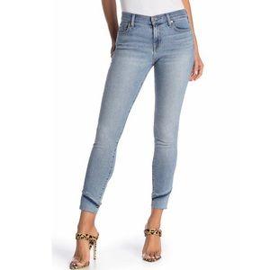 NWT 7FAM Frayed Stagger Hem Ankle Skinny Jean